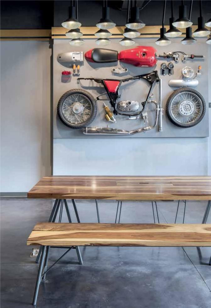 Motorcyclist Living Room